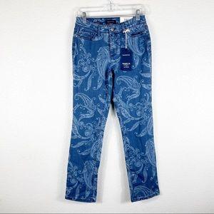 Charter Club Lexington Straight Paisley Jeans
